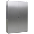 Free-Standing cabinets Stainless Steel H370, double door